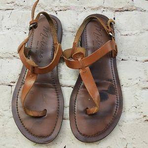 Matisse Gladiator Sandal Cognac Leather Thong 7